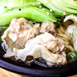 Mama Chows Kitchen Food Cart Won Ton Noodle Soup  Up Close