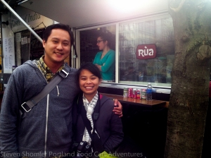 Phil and Kim at Rua Food Cart
