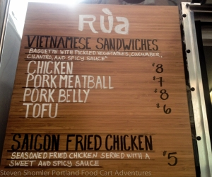 Rua Menu 1 at Rua Food Cart