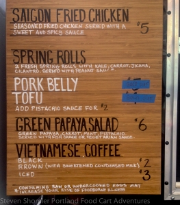 Rua Menu 2 at Rua Food Cart
